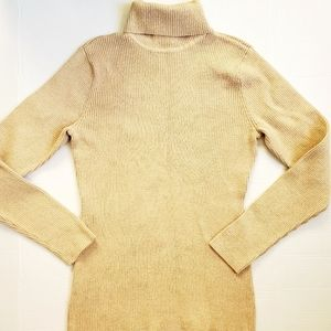 NWOT Style and Co Metallic Gold turtleneck sweater